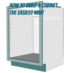 How to build a Kitchen Cabinet with butt joints and wood screws.  Easy Peasy!
