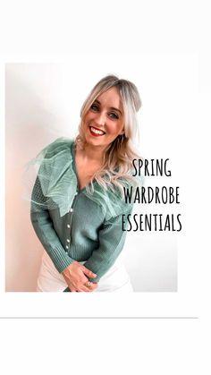 glammeetsgirl on Instagram: Spring Wardrobe Essentials Thanks To @memoriescarlingford 💐 #FashionReel #InstaFashion #SpringStyle #SpringFashion… Spring Fashion, Essentials, Pullover, Sweaters, Instagram, Fashion Spring, Spring Couture, Sweater, Sweatshirts