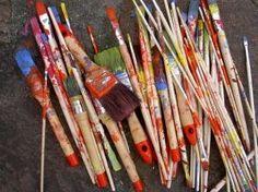 oil paint brushes