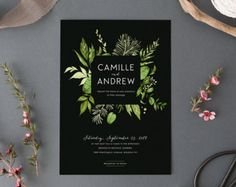 Woodland Wedding Invitation SetPrintable Forest by plpapers