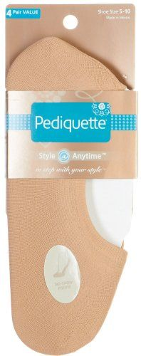 Save $1.00 on Pediquette by Peds 4 Pair Value Pack Sock Liners NUDE 9.5-11; only $9.00