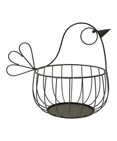 Another great find on #zulily! Bird Metal Basket by Boston Warehouse #zulilyfinds