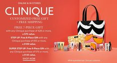 Customize your free Clinique gift at Lord & Taylor with any $28 Clinique purchase.