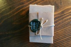 With wax seal--from Orange Fuzz boutique.