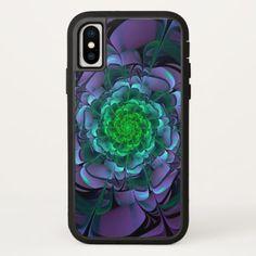 Beautiful Purple & Green Aeonium Arboreum Zwartkop iPhone X Case - beautiful gift idea present diy cyo