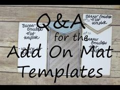 Q&A for the Add On Mat Templates for the Ultimate DIY Scrapbook Printable Template - YouTube