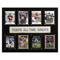 NCAA 12 x 15 in. Football LSU Tigers All-Time Greats Plaque - 1215ATGLSU