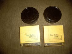 Cine-Kodak Super X and Super XX Box with Empty Metal reels and Metal Cases