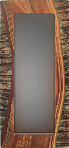 Wood River Beveled Mirror by Ingela Noren and Daniel Grant: Wood Mirror available at www.artfulhome.com