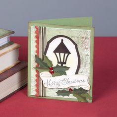 Christmas lantern card with the #Cricut