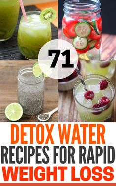 71 Delicious Detox Water Recipes To Help You Lose Weight Fast