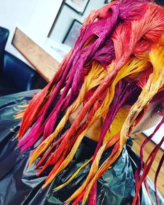 The Colours of Christmas 🎄What rainbow colours would you try? @blisshairdressing #blissemma #mastercolourexpert @emma.blisshair #loughborough #precovid19 #rainbowhair #fruitsalad 🍊🍋🍓www.blisshair.com