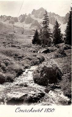 Courchevel (Savoie) Télébenne des Verdons La Saulire et Dent de Burgin. Photo BEGLIN