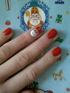 Leuk detail voor moeders en (kleine) meisjes! Nagellak Sinterklaasjes...