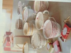 Teacup Candles....fill old teacups with wax and add a wick and you're done! Would be such a cute bridal shower favor