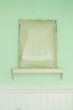 Frame your grandparents' baby clothes.  Use light-resistant glass to help preserve the quality.