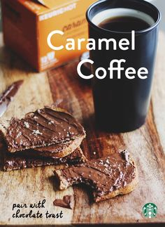 So simple. So sweet. Caramel flavor adds just the right touch of richness to this medium-roast coffee. Try pairing it with a simple treat like chocolate toast - look for any type of chocolate spread at your grocery store and slather it on a piece of toast :)