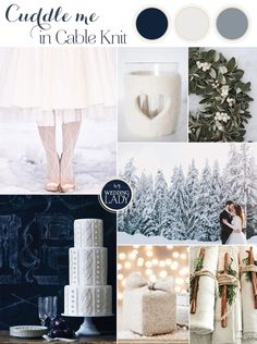 Cozy Cable Knit Winter Wedding Inspiration in Frosty Shades of Blue