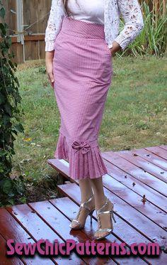 The Vignette Skirt, LN1618 view B