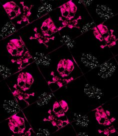 pink skull wallpaper 02 by barbaraaldrette.deviantart.com on @deviantART