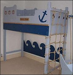 Boat theme loft bed
