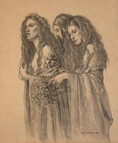 Sudjaje - Female deities from Slavic mythology who control destiny. Correspondent with The Fates of the Greek