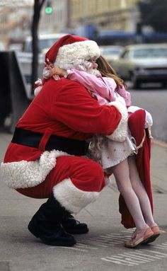 .Awww, so sweet.  To this day, if the mall Santa & I make eye contact, my heart skips a beat.  The other day he looked my way AND WAVED! Surely this means I must be on the nice list this year <YAY!>