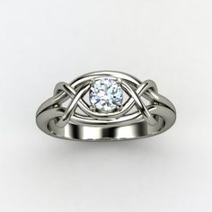 Round Blue Topaz Sterling Silver Ring - lay_down