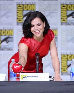 """Lana Parrilla attend the """"Once Upon A Time"""" panel during Comic-Con International 2016 at San Diego Convention Center on July 23, 2016 in San Diego, California."""