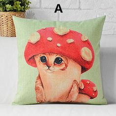 Cheeky Cats Colourful Design Tapestry Cushion Filled Signare