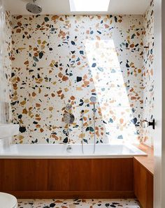 Can You Handle This Trend? - Terrazo - In case you didn't notice, the 'terrazzo' design trend is making a huge comeback this year, and we are already in love wi Marble Bathroom, Decor, Cheap Home Decor, Diy Bathroom Decor, Flooring, Trending Decor, Flooring Trends, Terrazzo Flooring, Bathroom Design