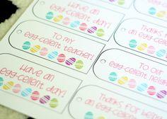 Darling Easter gift tags via @Kristyn Merkley