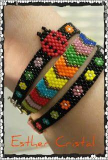 Bead Loom Bracelets, Bracelet Crafts, Beaded Earrings Native, Beaded Jewelry, Peyote Patterns, Beading Patterns, Jewelry Patterns, Bracelet Patterns, Seed Bead Projects
