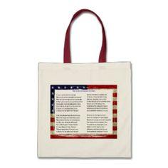 The star spangled banner bag