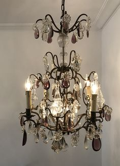 Large French Rococo Style Dore Bronze Chandelier - Made in Italy ...