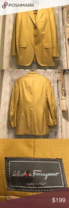 Salvador Ferragamo 3 button blazer Stunning! Perfect for the gentleman who wants to stand out from the crowd. Superior quality and style. Salvatore Ferragamo Suits & Blazers Sport Coats & Blazers