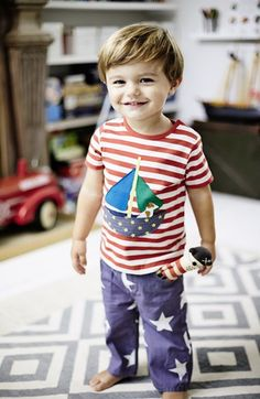 Free shipping and returns on Mini Boden T-Shirt & Jeans (Baby Boys) at Nordstrom.com.