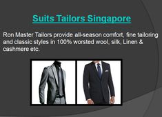Place your order to get various kinds of #CustomSuites in Singapore. Know more information from Ron Master Tailors.