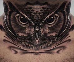 Owl Neck Tattoo, Full Neck Tattoos, Neck Tattoo For Guys, Full Body Tattoo, Body Art Tattoos, Sleeve Tattoos, Tattoos For Guys, Mens Neck Tattoos, Tattoo Art