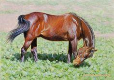 Greener Pastures 5x7, painting by artist George Lockwood