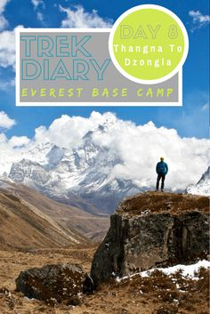 Destinations // Everest Base Camp Trek Day 8: Thangna to Dzongla.  Nepal's Everest Base Camp Trek combined with the challenging Three Pass Trek is an adventure of a lifetime. Here's a look at Day 8 as we make our way from Thangna to Dzongla via the Chola Pass.