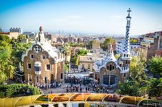 Parc Güell - Picture by Diana Keisa  The Park Güell is a public park system composed of gardens and architectonic elements located on Carmel Hill, in Barcelona, Catalonia (Spain).