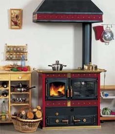 poele bouilleur bois - Cuisine Occasion Belgique