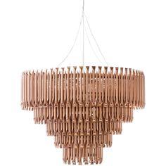 5 tier Copper piping chandelier, Weylandts