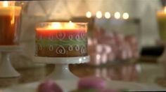 PartyLite ~YouTube~ Just Desserts by PartyLite~ All the Sweetness without the calories :)) Loving the pInks and greens!! http://www.partylite.biz/sites/heathermjackson