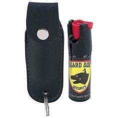 Police Strength OC Pepper Spray Security Self Defense w/ black Case Made in USA
