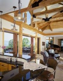 Refined rooms blend well in a rustic hybrid Hearthstone home