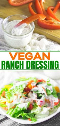 Are you looking for an easy homemade vegan ranch dressing recipe? Stop your search! This is the best easy vegan ranch dressing. Delicious with salads and side dishes. No need to give up that amazing ranch taste even if you eat dairy free. Vegan Ranch Dressing, Ranch Dressing Recipe, Homemade Ranch Dressing, Healthy Dips, Healthy Meals To Cook, Easy Meals, Vegan Recipes Easy, Lunch Recipes, Autoimmune