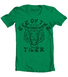 Men's High on Octane™ HoO Eye of the Tiger Chi-Power© Gym Kung Fu Workout T-Shirt (Color Options)