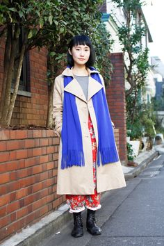 She's a haridresser, photographed in Aoyama, Tokyo, wearing mainly second-hand